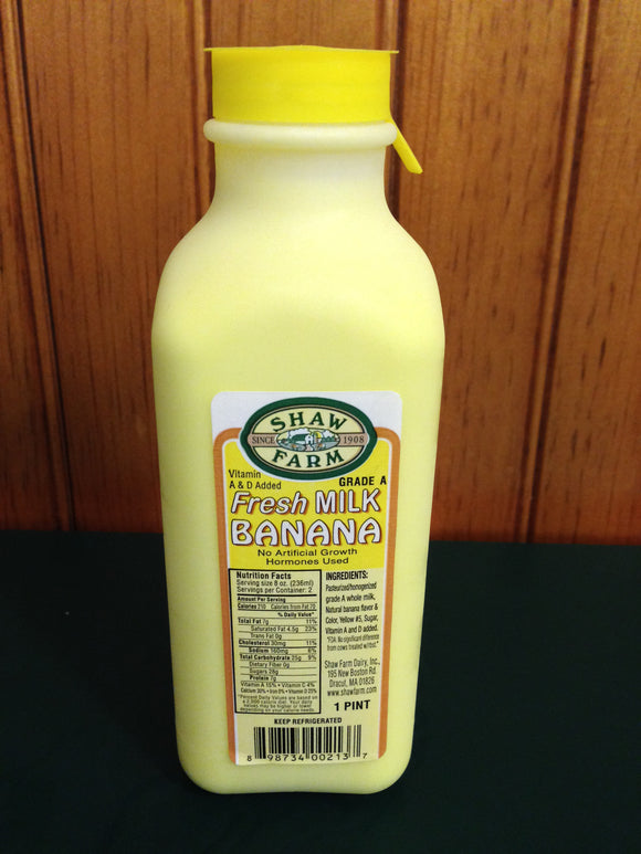 Shaw Farm - Banana Milk, pint plastic