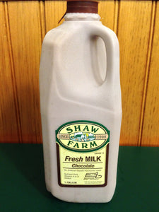 Shaw Farm - Chocolate Milk, half gallon plastic
