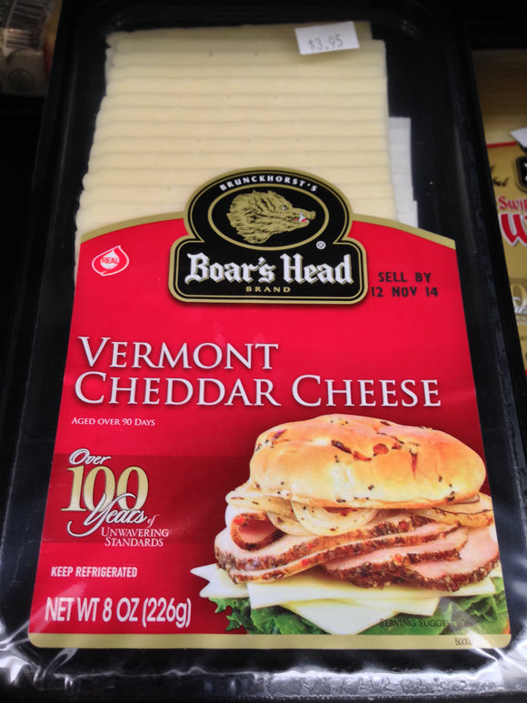 Boar's Head - Vermont Cheddar Cheese, Sliced