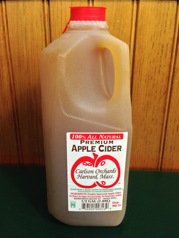 Carlson Orchards - Apple Cider - 1/2 Gallon