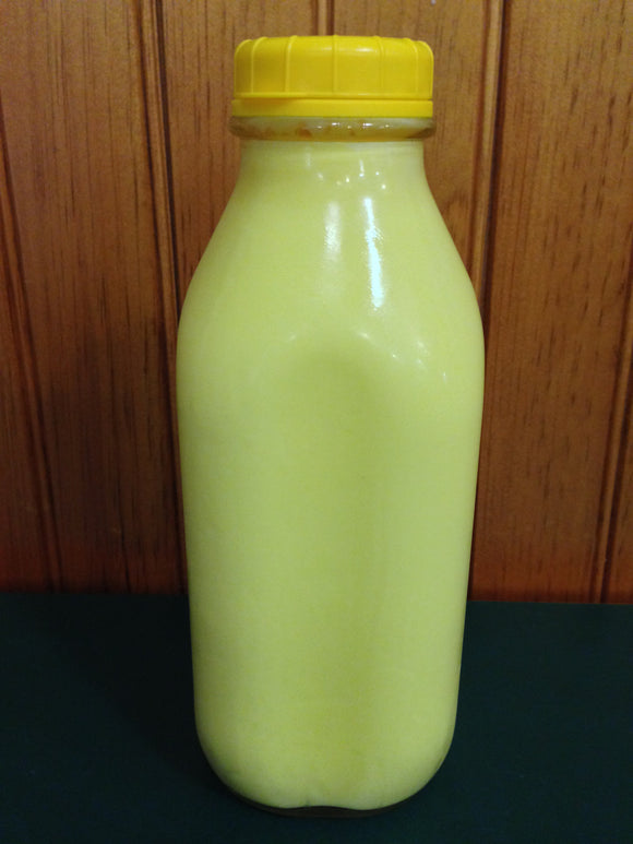 Shaw Farm - Banana Milk, quart returnable bottle
