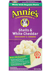 Annie's Homegrown ORGANIC Shells and White Cheddar