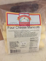 Four Cheese Manicotti