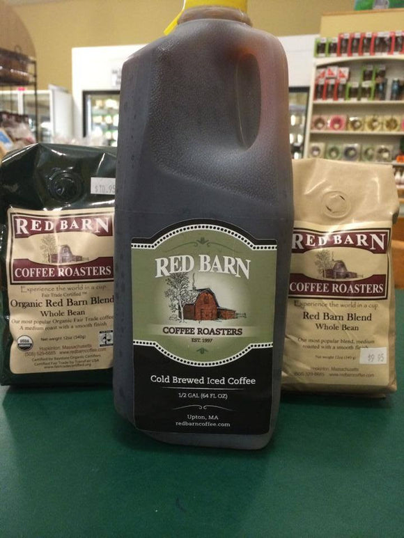 Red Barn Cold Brewed Iced Coffee 1/2 Gallon