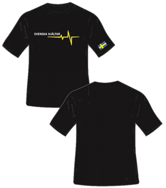 Thin Yellow Line Funktions T-shirt - Svenska Hjältar AB