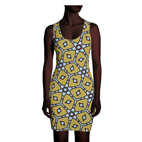 Kaleidoscope African Wax Print Dress