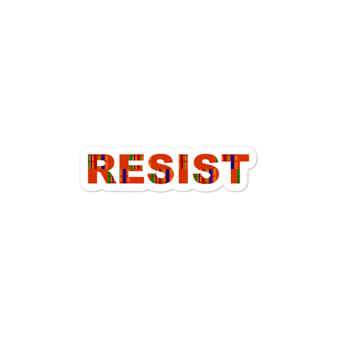 Resist Stickers with Kente Cloth Motif