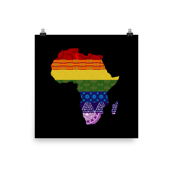 LGBTQ Pride with African Fabrics Poster