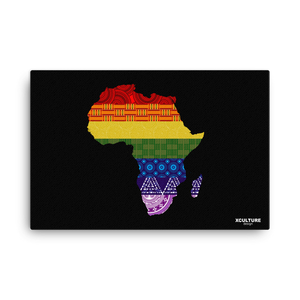 LGBTQ Pride with African Fabrics Canvas