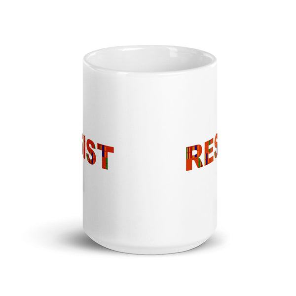 Resist Mug with Kinte Cloth Motif