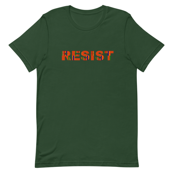 Resist T-Shirt with Kente Cloth Motif