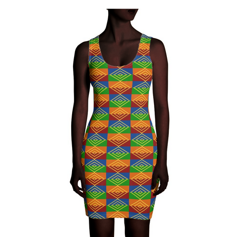 Kente Dress with Diamond Motif
