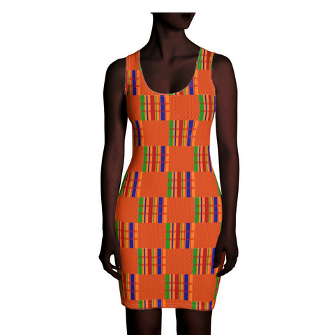 Orange Kente Dress