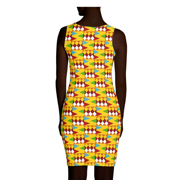 Yellow Kente Dress