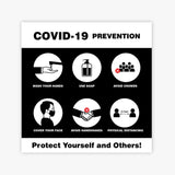 "Covid19- Prevention 8"" x 8"" Sign"