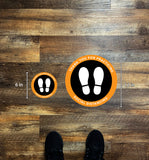 Thank You For Social Distancing Circle Floor Graphics