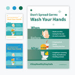Don't Spread Germs, Wash Your Hands: Graphic Print
