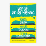Wash Your Hands Awareness Sign