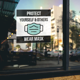 Wear Mask, Protect Yourself & Others Sign