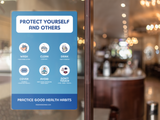 Protect Yourself And Others Sign