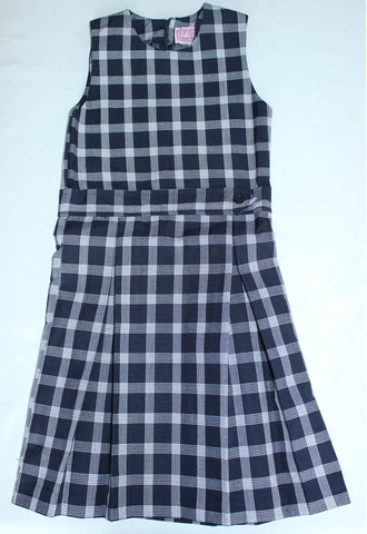 Kick Pleated Jumper with Belt Plaid #185