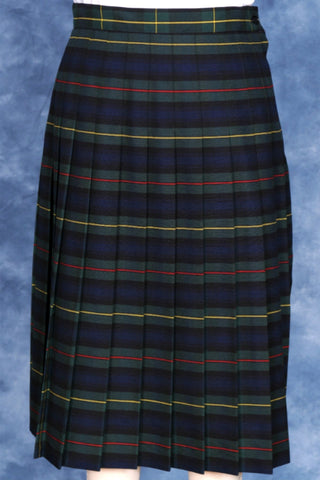 Junior Knife Pleated Skirt Plaid #158