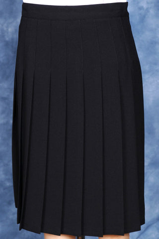 Junior High High School Navy Knife Pleated Skirt