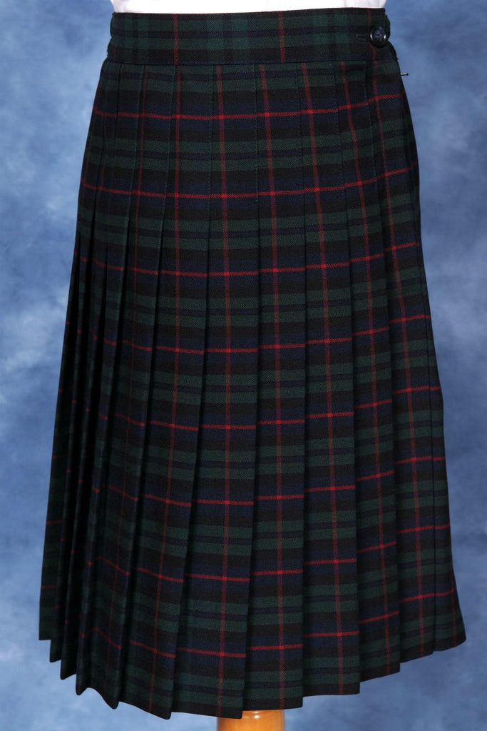 Elementary Plaid #254 Knife Pleated Skirt