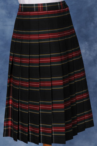 Kids Knife Pleated Skirt Plaid #140