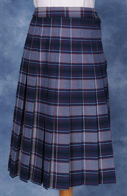 Elementary Plaid #5232 Knife Pleated Skirt