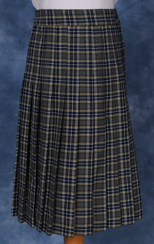 Elementary Plaid #933 Knife Pleated Skirt