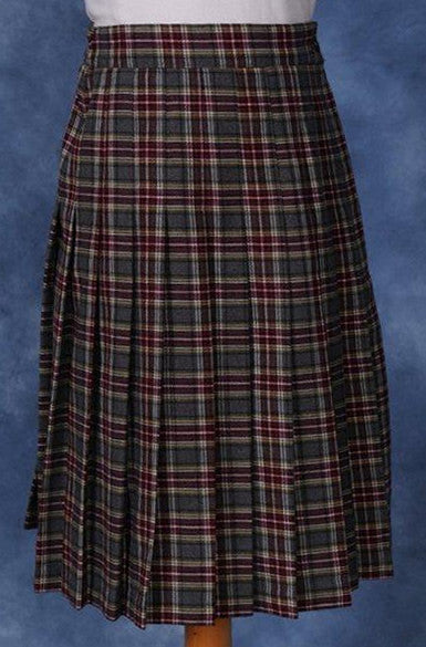 Kids Knife Pleated Skirt Plaid #93-6