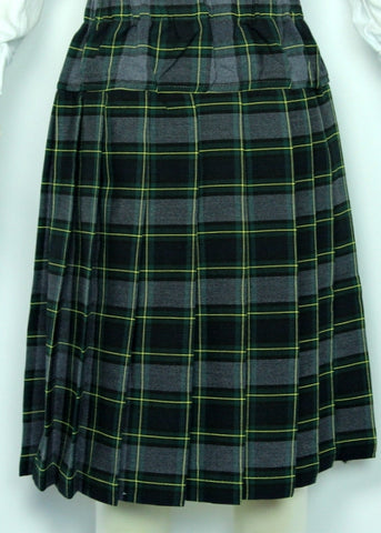 Elementary Plaid #111 Yoke Pleated Skirt