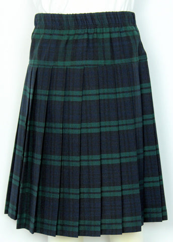 Yoke Pleated Skirt Plaid #120