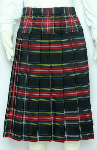 Elementary Plaid #140 Yoke Pleated Skirt