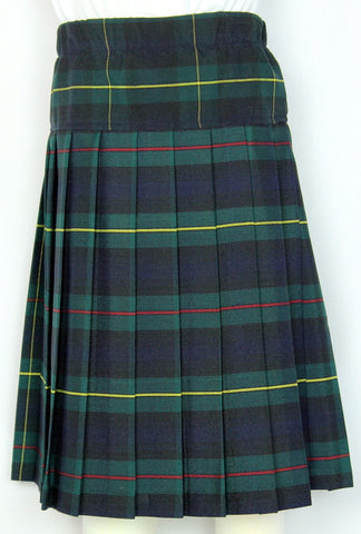 Yoke Pleated Skirt Plaid #158