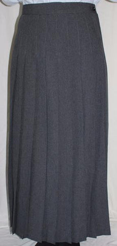 Seminary Gray Knife Pleated Skirt
