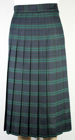 Junior Knife Pleated Skirt Plaid #120