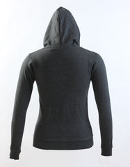 Elementary Charcoal Gray Cotton Hooded Sweatshirt