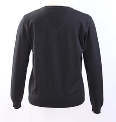 Elementary Black Knit V-neck sweater (No Logo)
