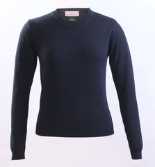 Elementary Black Knit Crew neck sweater