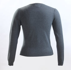 Elementary Charcoal Grey Knit V-neck sweater