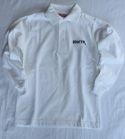 Haftr White Jersey Polo Shirts Long Sleeve