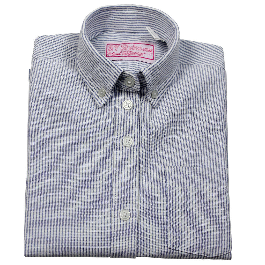 H.S. N.W.S. Oxford Blouse- Fitted Round Hem