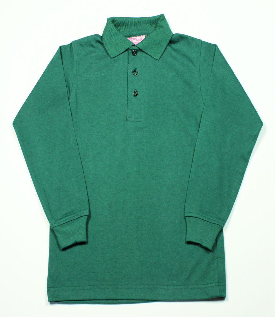 Green Jersey Knit Polo Shirt