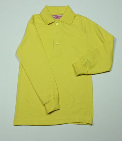 Yellow Jersey Knit Polo Shirt