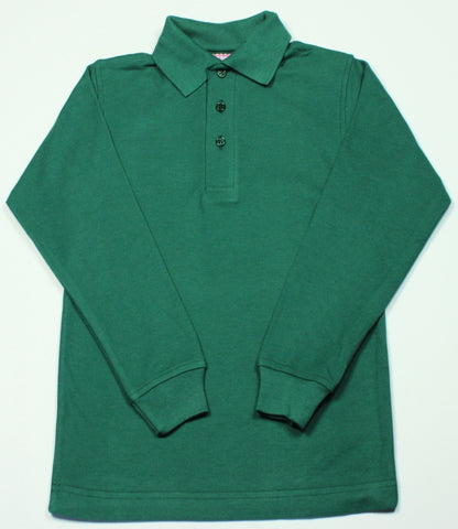 Green Pique Knit Polo Shirt
