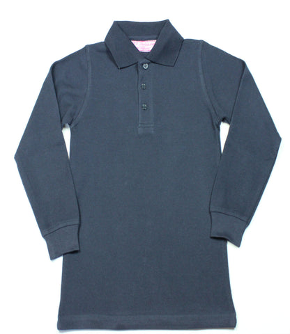 Dark Navy Pique Knit Polo Shirt