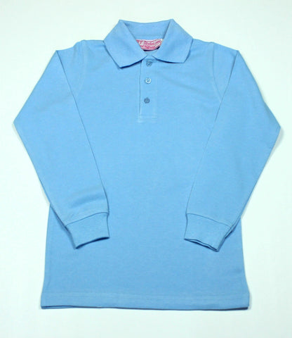 Light Blue Pique Knit Polo Shirt