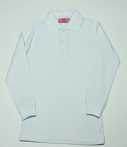 White Pique Knit Polo Shirt